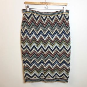 Vintage Missoni Zig Zag Knit Skirt - 6
